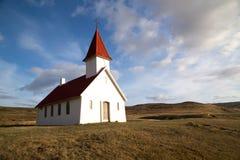 Lone church at Breidavik, Westfjords Royalty Free Stock Images