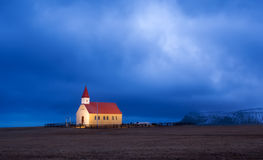 Lone church on Iceland Stock Images
