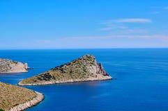 Lone cliff vista, part of Croatian national park Kornati Royalty Free Stock Image