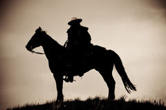 Lone Cowboy Stock Image