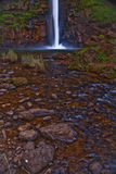 Lone Creek Falls. Beautiful waterfall into an isolated pool in South Royalty Free Stock Images