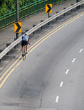 Lone Cyclist Royalty Free Stock Photography