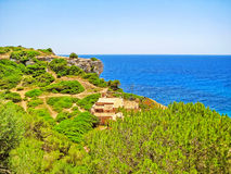 Lone finca / house / home with ocean view Royalty Free Stock Images