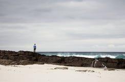 Lone Fisherman Royalty Free Stock Image