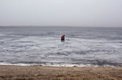Lone fisherman Stock Images