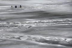 Lone fishermans Stock Photos