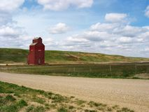 Lone grain elevator royalty free stock photos