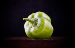 Lone green pepper Royalty Free Stock Photos