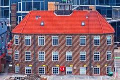 Lone house. Lone brick  house  Kopenhagen Denmark Stock Images