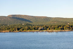 Lone House on Maine Coast Royalty Free Stock Image