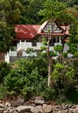 A lone house in the tropical jungles Royalty Free Stock Image