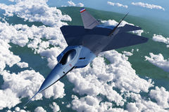 Lone Jet Fighter Royalty Free Stock Photos