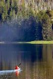 Lone Kayak. Kayaker in morning mist Royalty Free Stock Photos