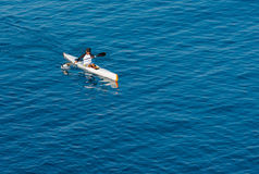 Lone Kayaker on the Pacific Royalty Free Stock Photography