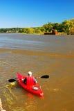 Lone Kayaker Stock Image
