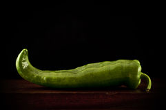 Lone long pepper Stock Photos