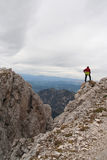 Lone man in The Dolomites,Italy Stock Photos