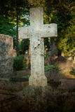 A lone marble cross Stock Image