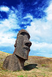 Lone moai in Easter Island Stock Photo