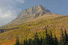 Lone Mountain Peak in the Fall Stock Photography