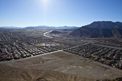 Lone Mountain View Nevada Stock Image