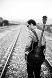 Lone musician Royalty Free Stock Photography
