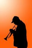 Lone musician Stock Photo