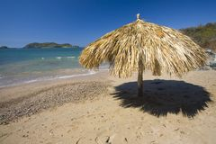 Lone Palapa on a Beach Royalty Free Stock Photo