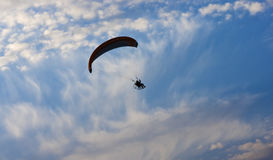 lone para-glider. Stock Image