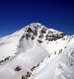Lone Peak. At Big Sky, Montana Stock Images