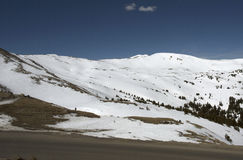 A lone person at the Loveland Pass in Colorado Stock Image