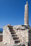 A lone pillar of the prehistoric Greek temple Royalty Free Stock Image