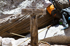 The Lone Pine Lake Sign Royalty Free Stock Photography