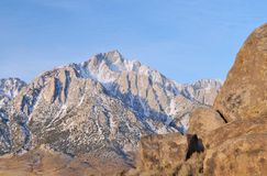 Lone Pine Peak Royalty Free Stock Photos