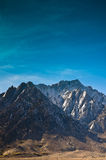 Lone Pine Peak. Photographed from the Alabama Hills area of California Stock Photos