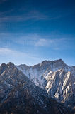 Lone Pine Peak. Photographed from the Alabama Hills area of California Royalty Free Stock Image