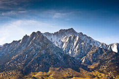 Lone Pine Peak. Photographed from the Alabama Hills area of California Royalty Free Stock Images