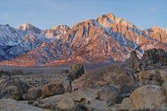 Lone Pine Peak Stock Image