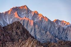 Lone Pine Peak view on sunrise at Alabama Hills Stock Photo