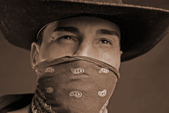 Lone ranger. Male cowboy royalty free stock photos
