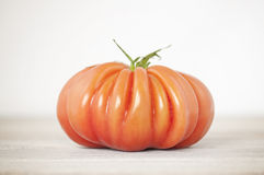 Lone red tomato Royalty Free Stock Photo