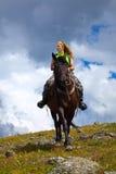 Lone rider Stock Image