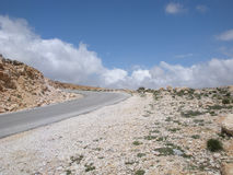 Lone Road Turning Stock Photography