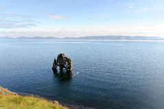 Lone rock in Iceland Royalty Free Stock Photo
