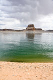 Lone rock in Lake Powell, Arizona Royalty Free Stock Photo