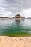 Lone rock in Lake Powell, Arizona Royalty Free Stock Photo