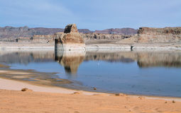Lone Rock in Lake Powell Royalty Free Stock Photos