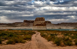 Lone Rock in Lake Powell Royalty Free Stock Image