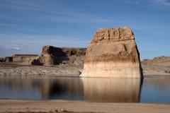 Lone Rock, Lake Powell, Arizona, USA Royalty Free Stock Image