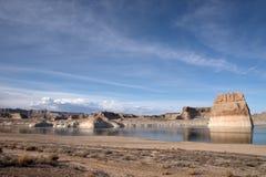 Lone Rock, Lake Powell, Arizona, USA Stock Photo